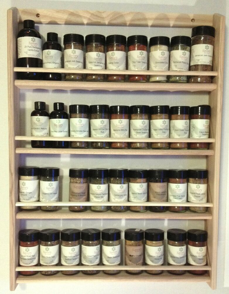Solid Oak Wood Spice Rack 265quoth X 1975quotw Wall Mount