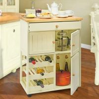 Kitchen Cabinet & Wine Rack On Wheels | Rolling ...