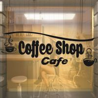 COFFEE SHOP CAFE WINDOW SHOP FRONT VINYL STICKER DECAL ...