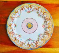 Faux China TIN Dinner Plate Daisy Center 1766 Wallace ...