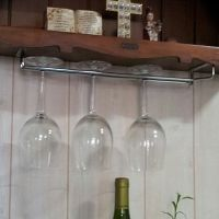 Hanging Wine Glass Rack Drinking Glasses Storage Under