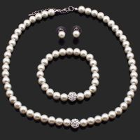 Wedding Jewelry Set, Bridal Jewellery, Pearls, Necklace ...