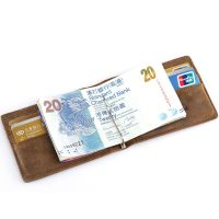 Men Crazy Horse Leather Slim Bifold Wallet ID Card Cash ...