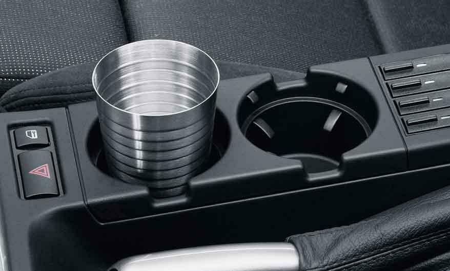 Bmw Genuine Front Center Console Drink Cup Holder Black