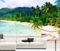 Tropical Beach Scenery Full Wall Mural Photo Wallpaper ...