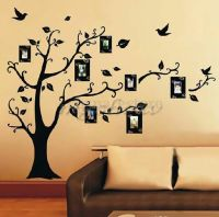 DIY Home Family Decor Photo Black Tree Removable Decal ...