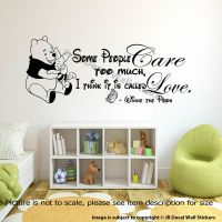 WINNIE THE POOH WALL ART QUOTE STICKER Nursery Piglet Pooh ...
