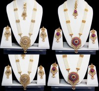 Indian Long Rani Haar Bridal Necklace Set Pearl Indian ...