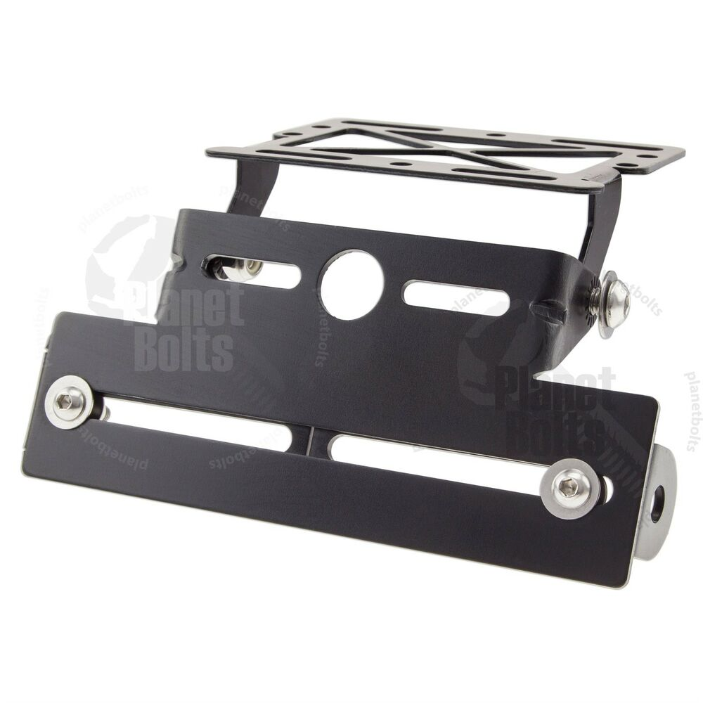 Black Fender Eliminator License Plate Bracket Mount