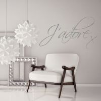 J'adore Love Quote Glitter Sparkly Wall Decal Sticker ...
