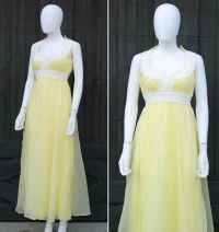Vintage 60s 70s Mike Benet Chiffon Party Prom Dress | eBay