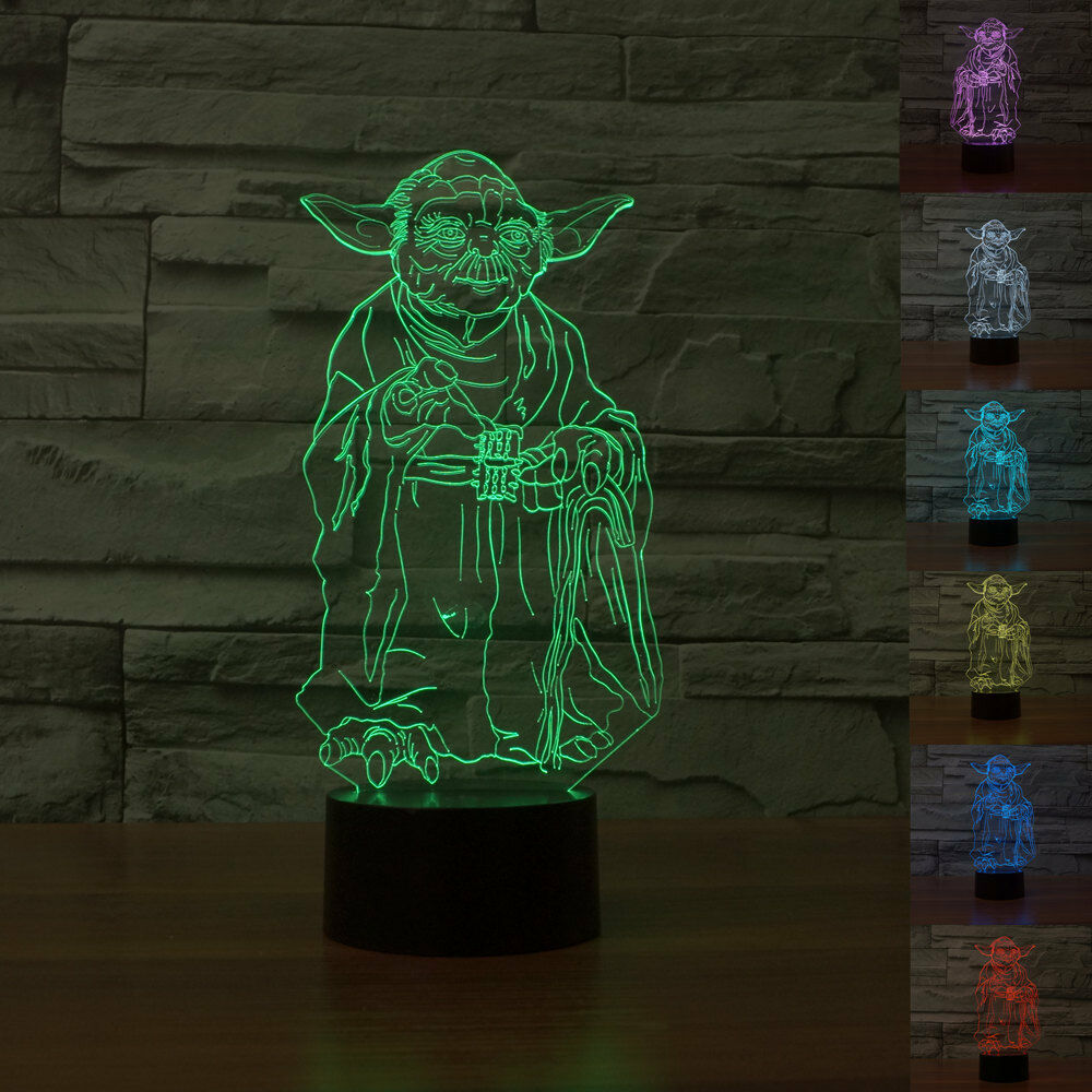 3d Star Wars 7 Colors Change Touch Switch Table Desk Lamp - Nachttischlampe Led