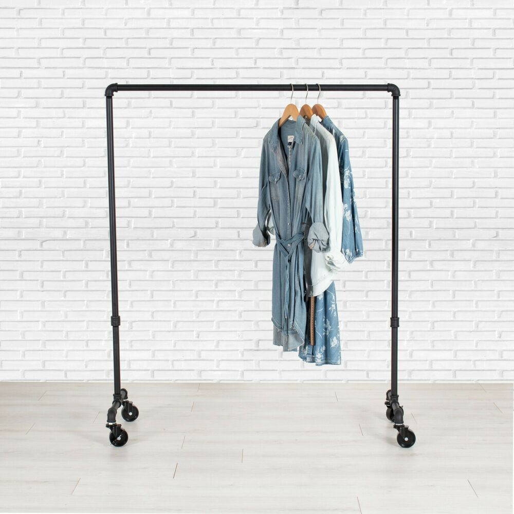 Clothes Rack Rolling Clothing Rack Garment Rack Pipe