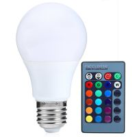 E27 Dimmable RGB LED light Color Changing Bulb with Remote ...