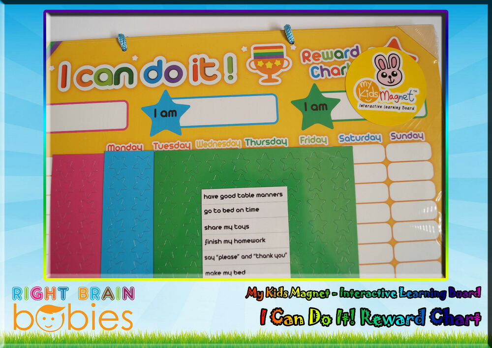 Kids Magnet I Can Do It! Reward Chart - Interactive Learning