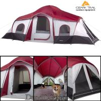 Ozark Trail 10 Person 3 Room Instant Cabin Camping Tent ...