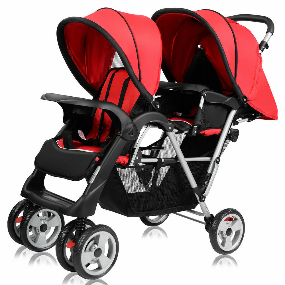 Stroller Travel System Ebay Foldable Twin Baby Double Stroller Kids Jogger Travel