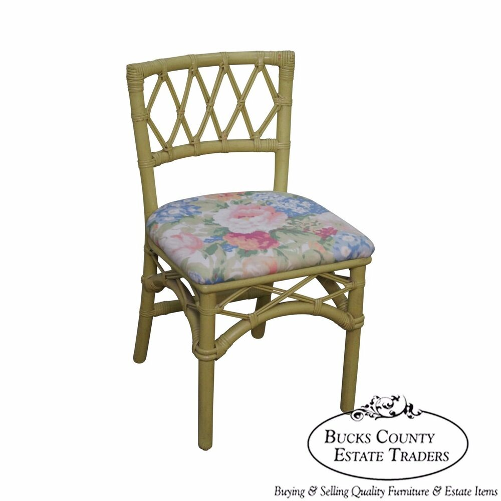 Painted Rattan Furniture Ficks Reed Vintage Painted Rattan Side Chair Ebay