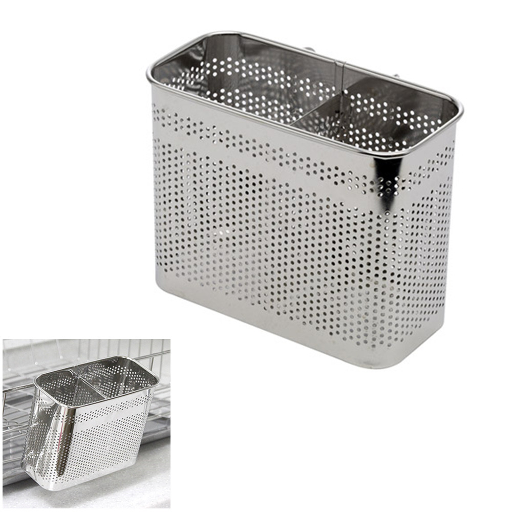 Fork Knife Drying Rack 2 Compartments Stainless Steel