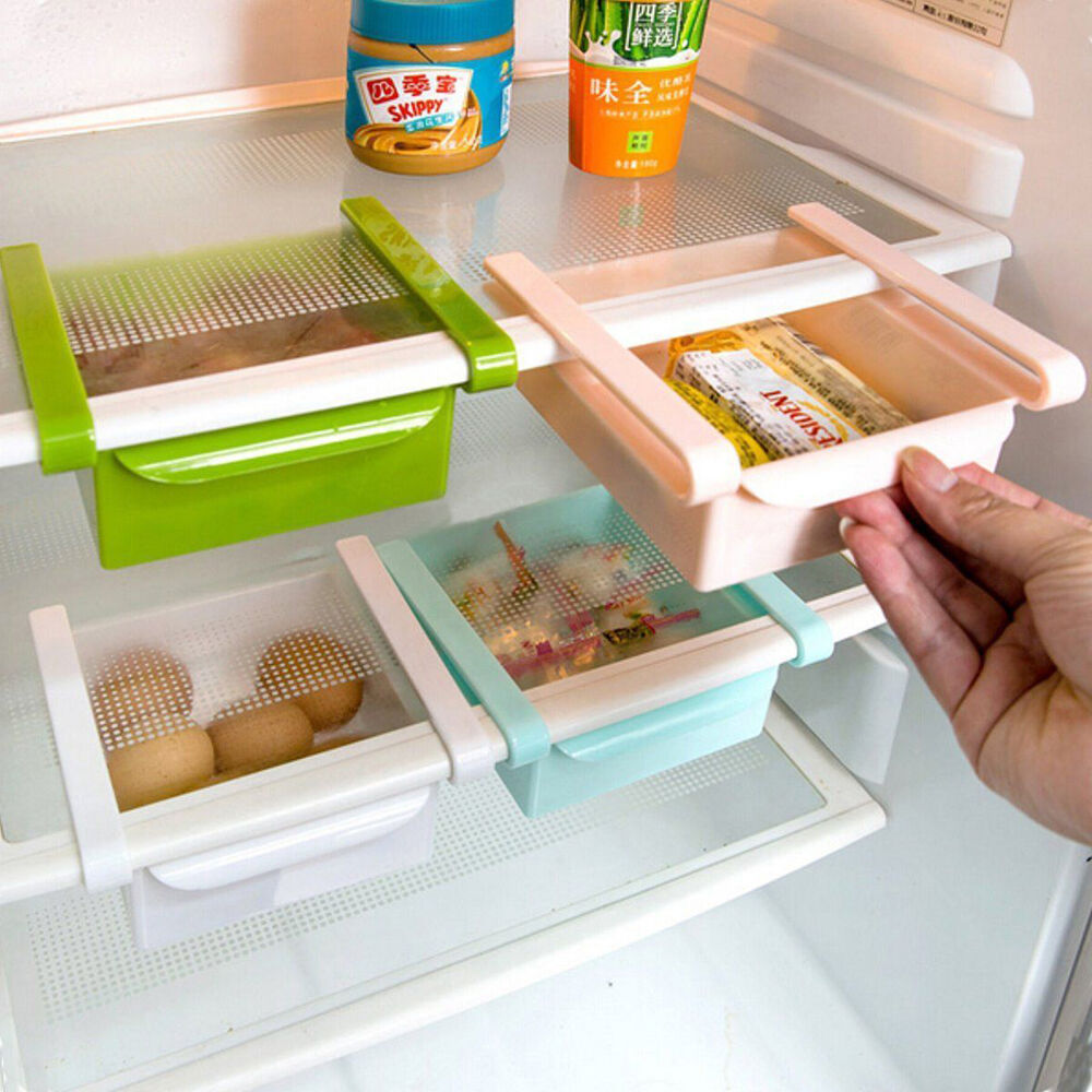 Kühlschrank Organizer Diy Kitchen Fridge Space Saver Organizer Slide Under Shelf