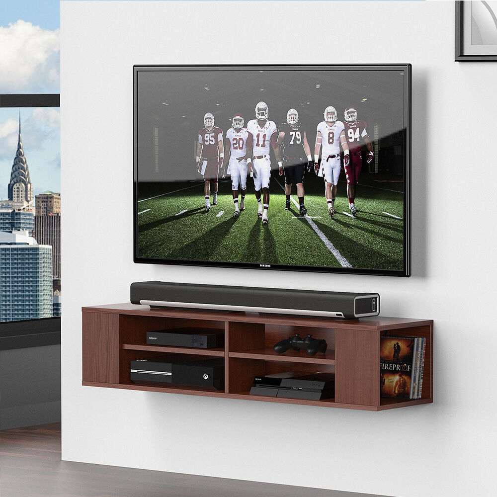 Floating Tv Stand Fitueyes Media Console Floating Tv Entertainment Center