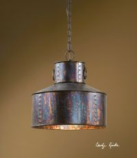 "NEW 15"" OXIDIZED BRONZE RUSTIC PENDANT HANGING CEILING ..."