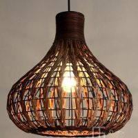 DIY NEW Tropical Bamboo Chandelier Wicker Rattan Lamp ...