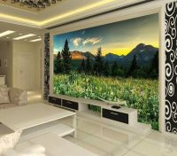 Wild Landscape Mountains Full Wall Mural Photo Wallpaper ...
