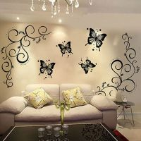 Butterfly Vine DIY Removable Vinyl Decal Art Mural Wall ...