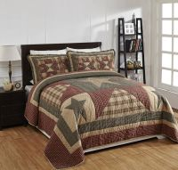 "4 Piece QUEEN ""PLYMOUTH"" Quilted Bedding SET ~ Country"