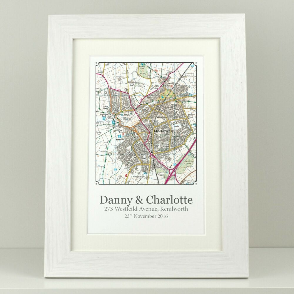 Personalised New Home Gifts New Home Gift Personalised Os Map House Warming Present First Home Va102 Ebay