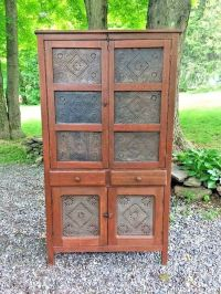 Antique Pie Safe Cabinet Cupboard 14 Punched Tins | eBay