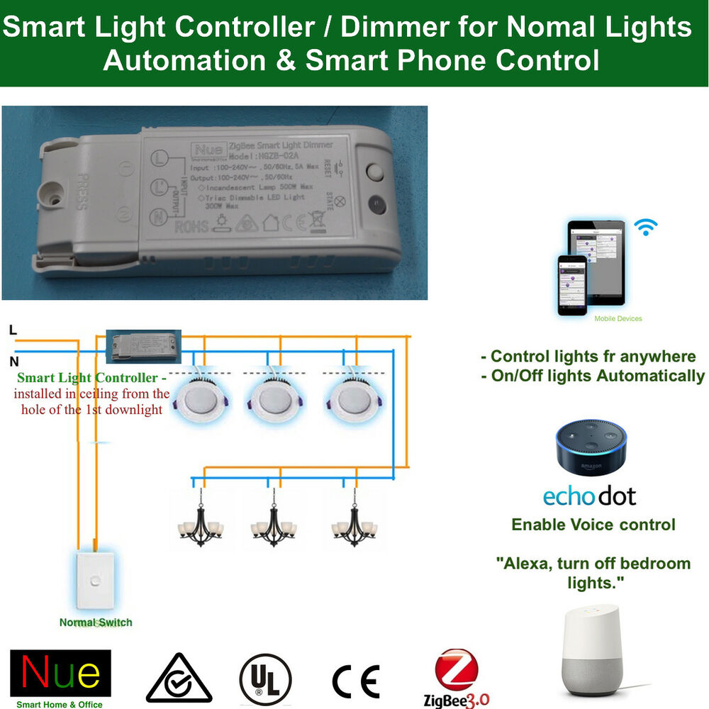Light Automation Smart Home Automation Light Controller Dimmer Switch For Normal