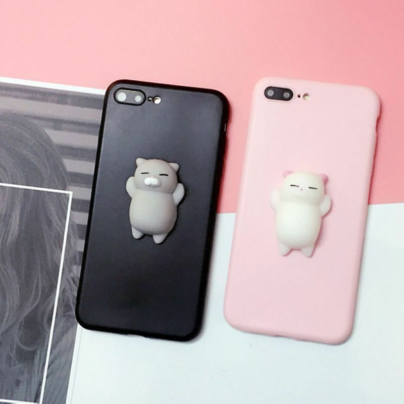 Iphone 6 Zoom X Squishy 3d Anti Stress Lazy Kitty Cat Soft Phone Case