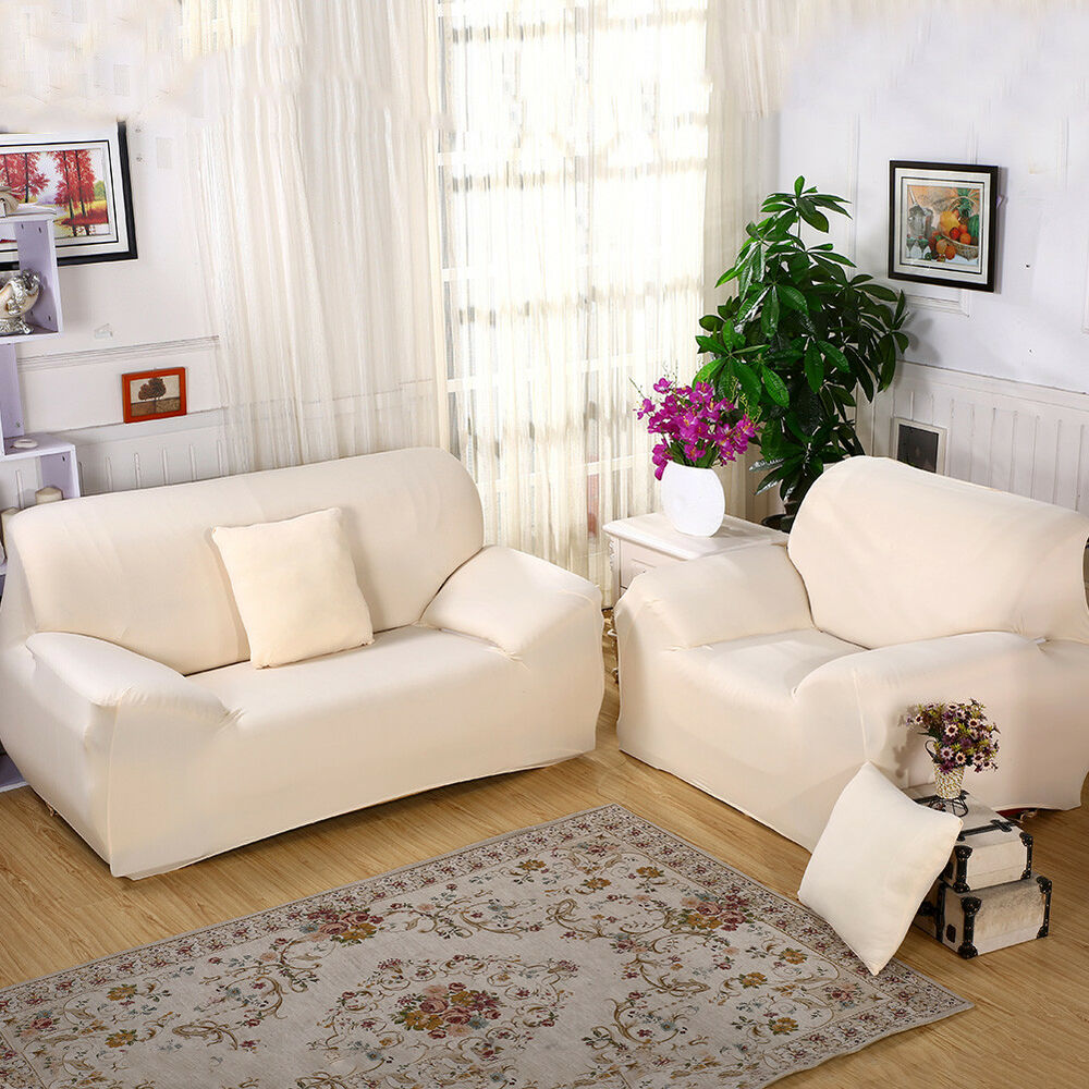Quality Sofa Covers Stretch Chair Cover Sofa Covers 1 2 3 4 Seater Protector Couch Cover Slipcover Ebay