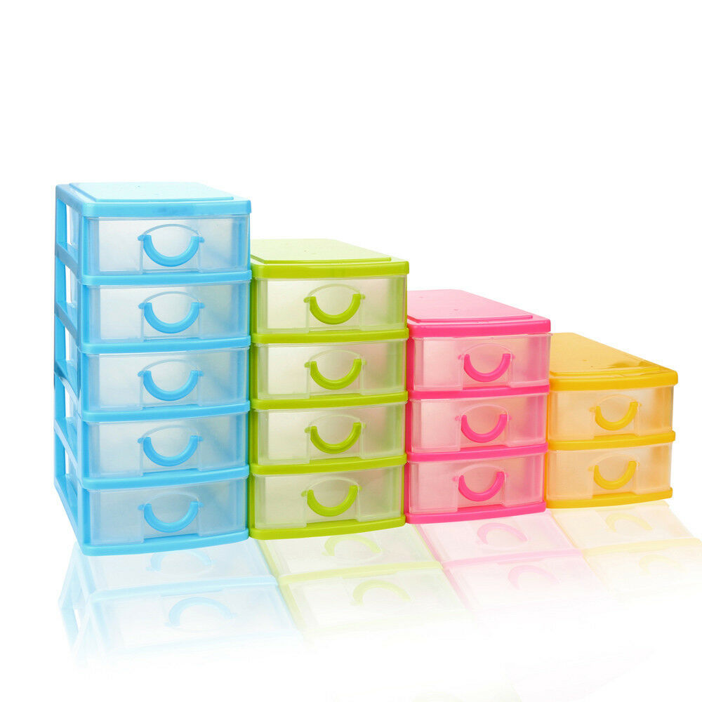 Desk Top Drawers Durable Plastic Mini Desktop Drawer Type Sundries Case Small Objects Storage Box Ebay