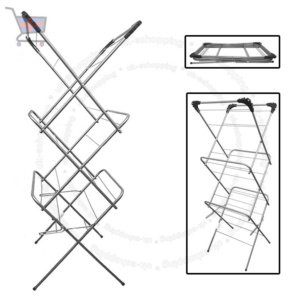 Seche Linge Exterieur 3 Tier 12m Cloth Airer Tower Indoor Outdoor Dryer Laundry Folding Rack Tall Ukes Ebay