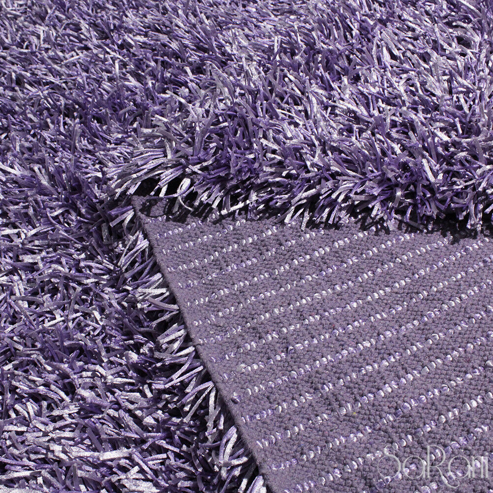 Tappeto Shaggy Lilla Contemporary Rug Muffin Shaggy Hair Long Soft Multipurpose Lilac Purple Sarani Ebay