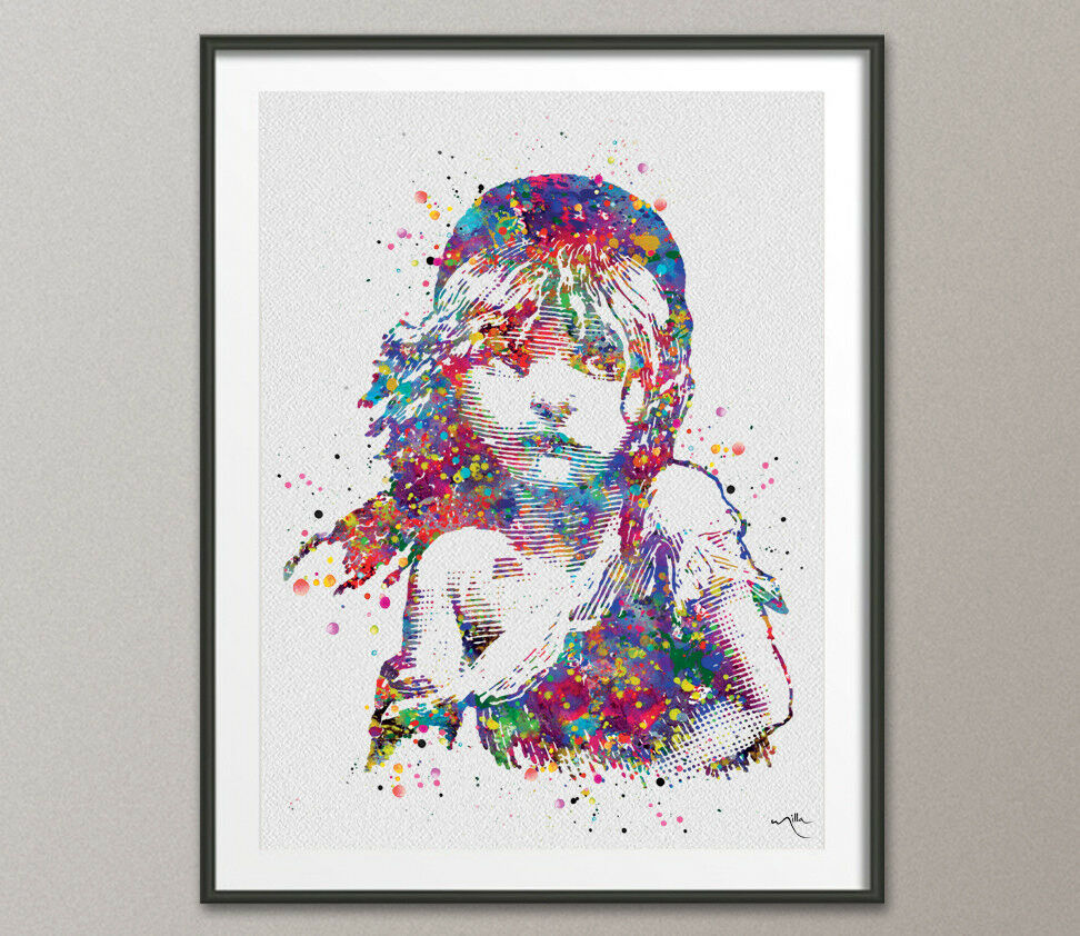 Mis Hogos Les Miserables Watercolor Print Victor Hugo Quote Inspirational