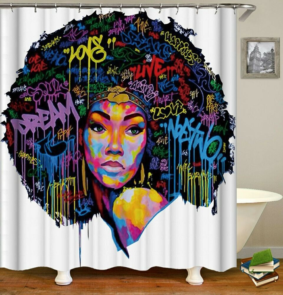 Black Queen Shower Curtain Wow Look African American Black Women Colorful Queen Shower Curtain Ebay