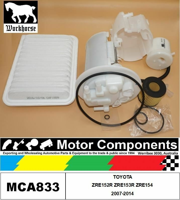 FILTER SERVICE KIT for TOYOTA COROLLA ZRE152R ZRE153R ZRE154 2007
