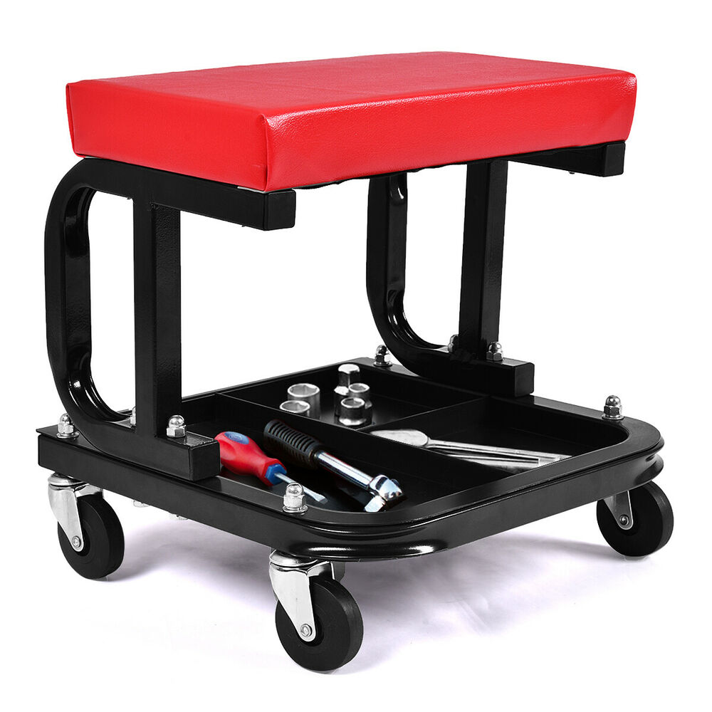 Chair Repair Rolling Creeper Seat Mechanic Stool Chair Repair Tools Tray Shop Auto Car Garage Ebay