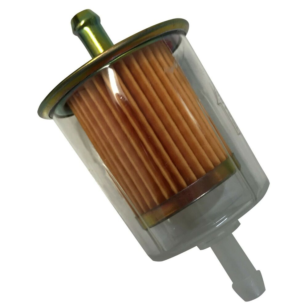 Package of 10 Clear Universal Inline Fuel Filter 5/16\