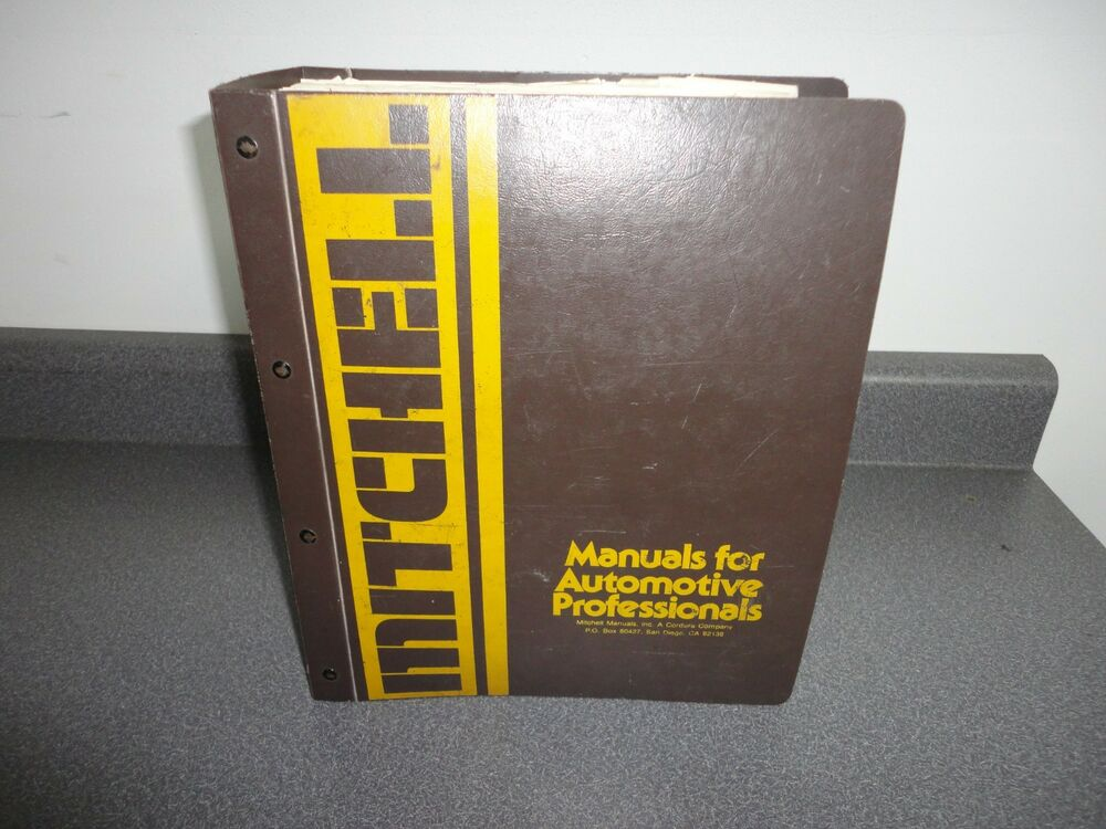 Mitchell Wiring Diagram Manual Binder Electrical 1967-1977 Domestic