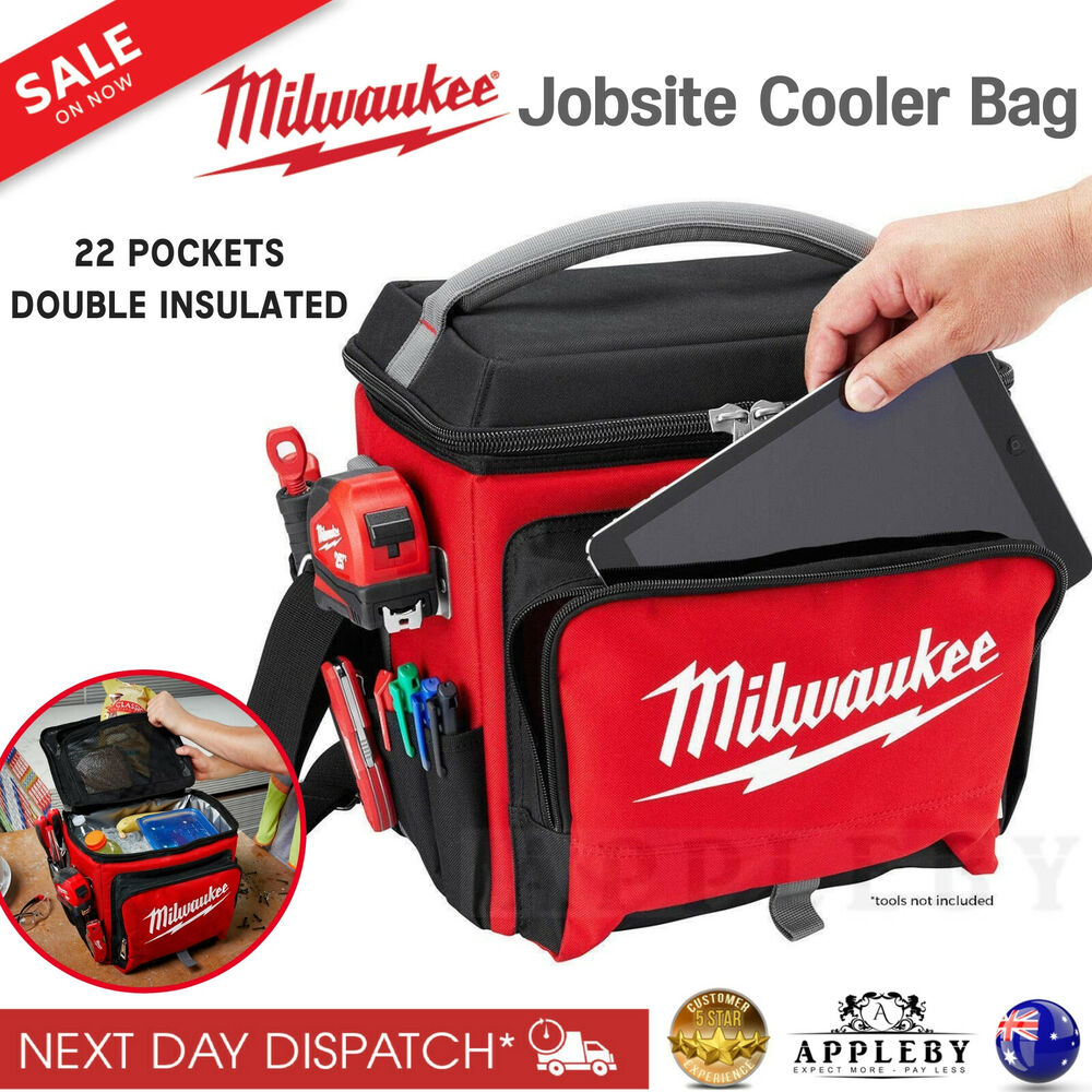 Esky Cooler Bag Milwaukee Jobsite Cooler Bag Insulated Portable Thermal Lunch Ice Bag Esky Box Ebay