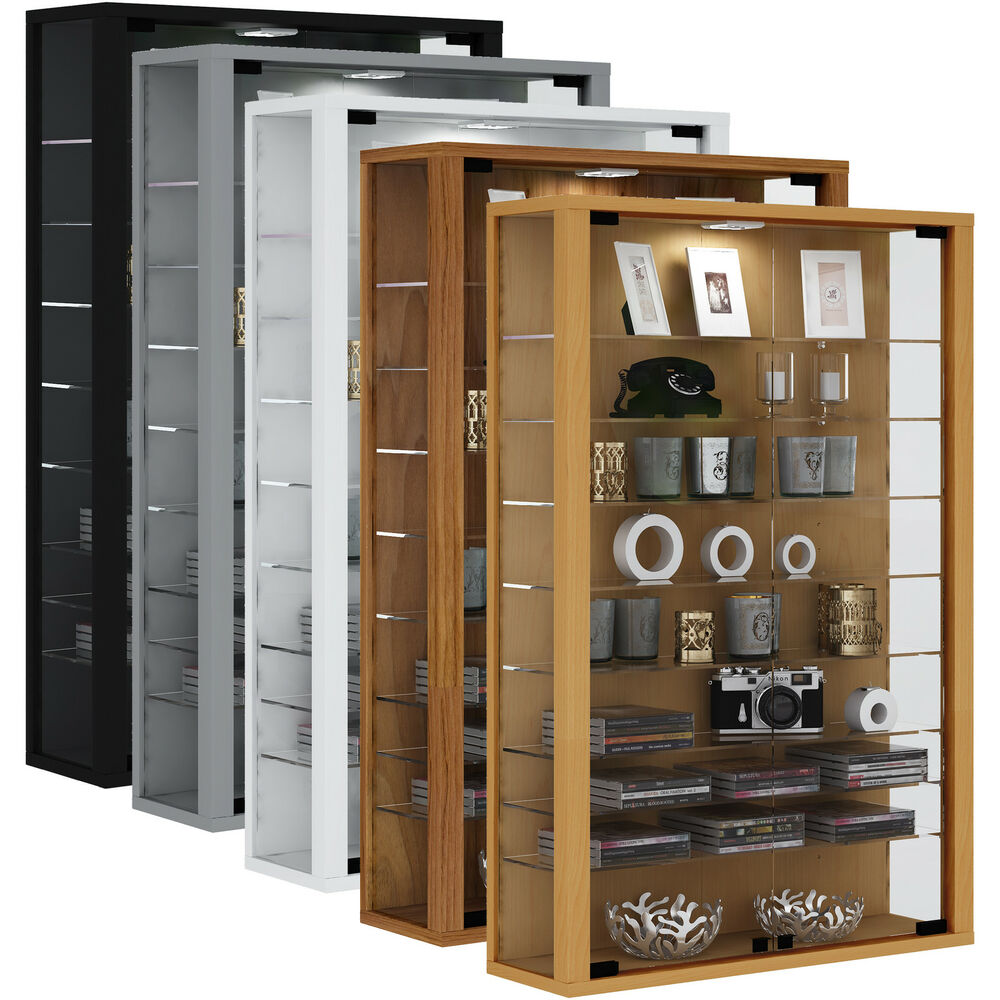 Glas Vitrine Vitrosa Vcm Display Cabinet Floating Wall Storage Unit Glass Shelf With Led Vitrosa Mini Ebay