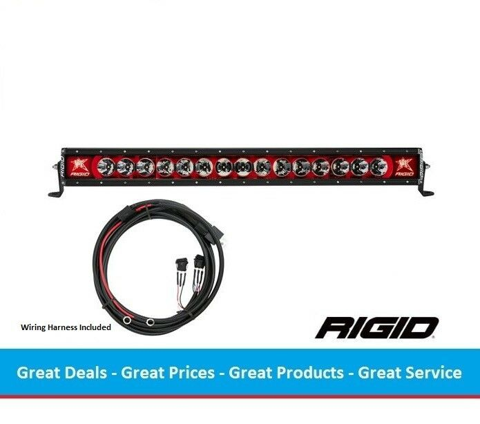 Rigid Industries Radiance Series 30 Inch LED Light Bar with Red Back