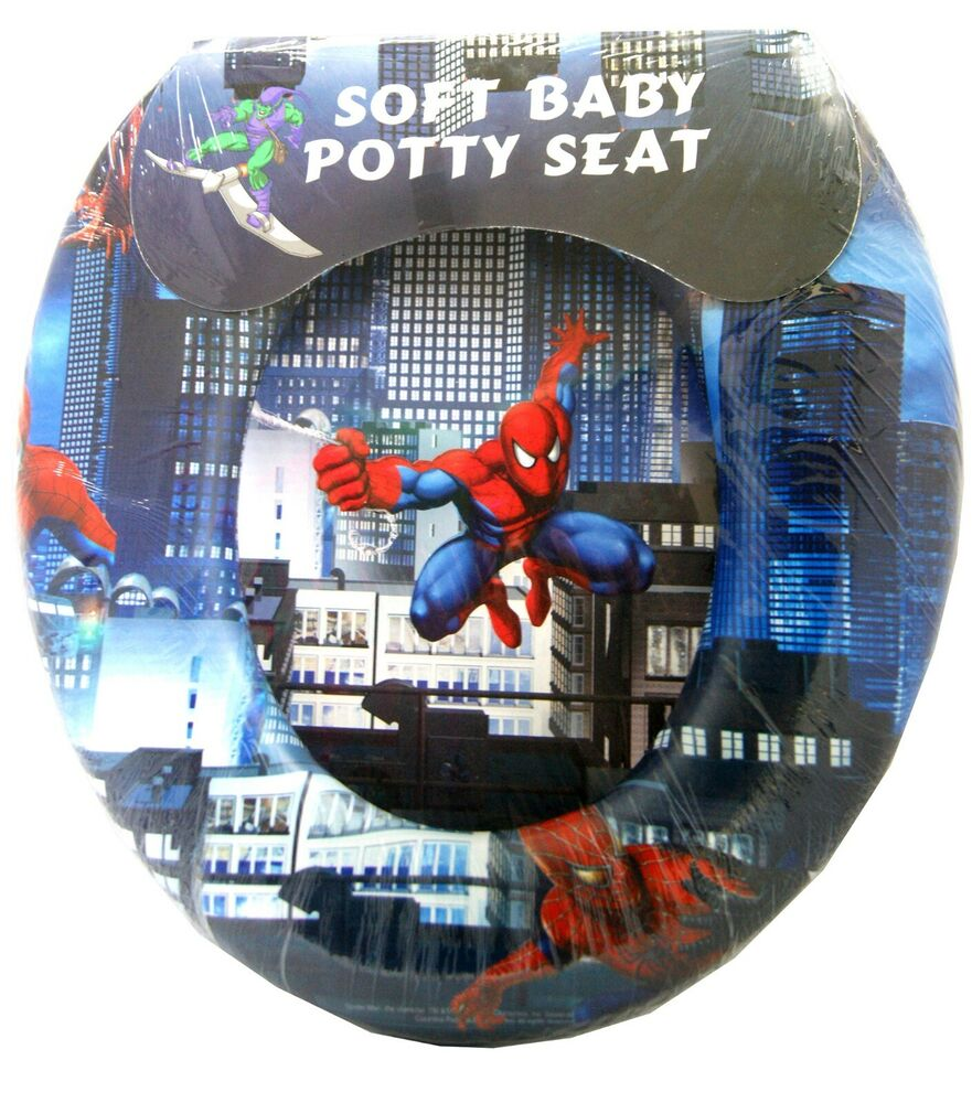 Spiderman Soft Padded Potty With Handle Toilet Training Seat