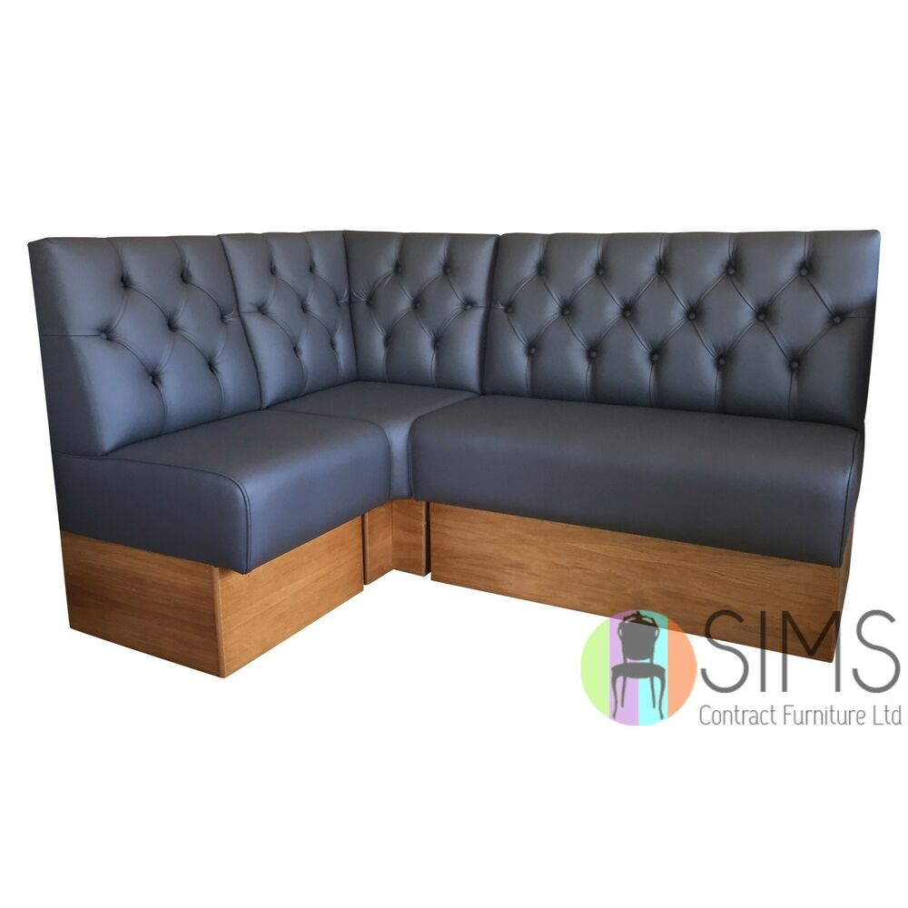 Banquette De Bar Modular Deep Buttoned Banquette Fitted Bench Booth Seating Cafe Kitchen Bar Ebay