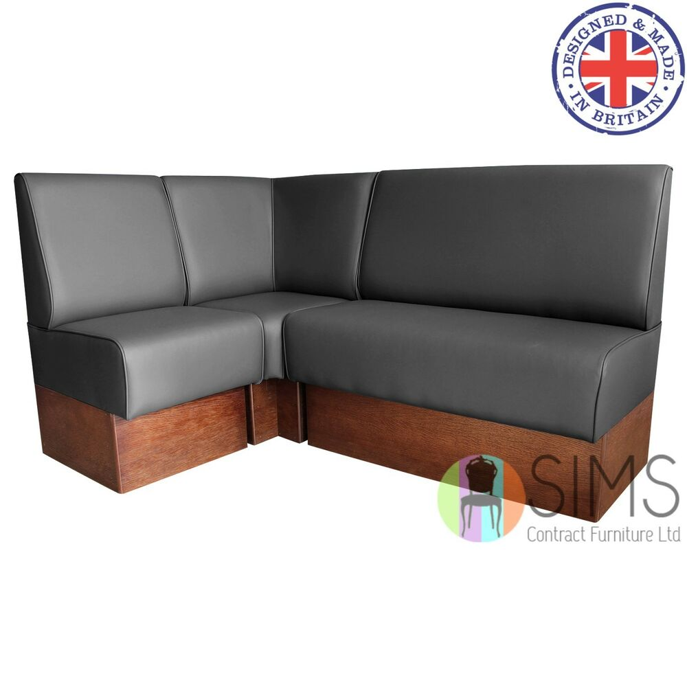 Banquette De Salon Modular Plain Back Banquette Fitted Bench Booth Seating Hairdressers Salon Ebay
